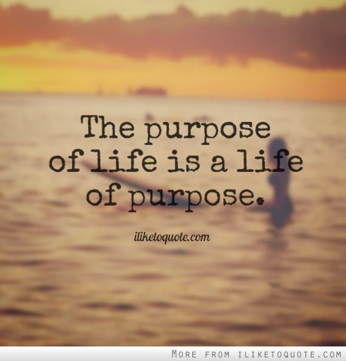 My Purpose In Life Quotes New The Purpose Of Life Is A Life Of Purpose.