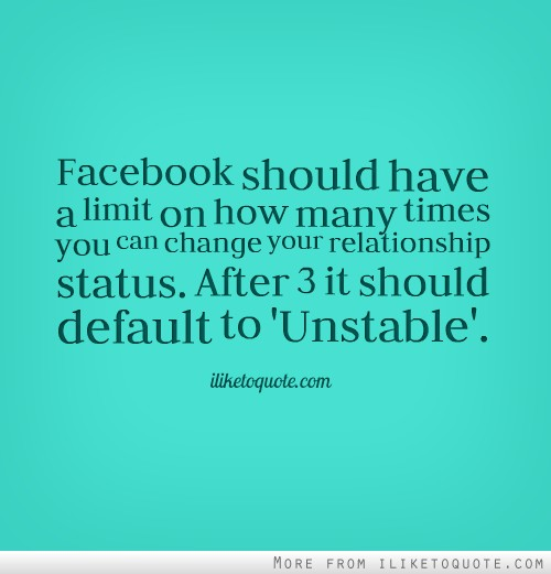 Facebook Quotes And Saying: Quotes Facebook Relationship Status. QuotesGram