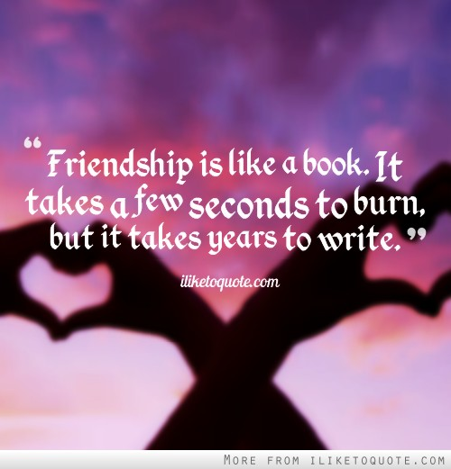 writing a novel quotes about friendship