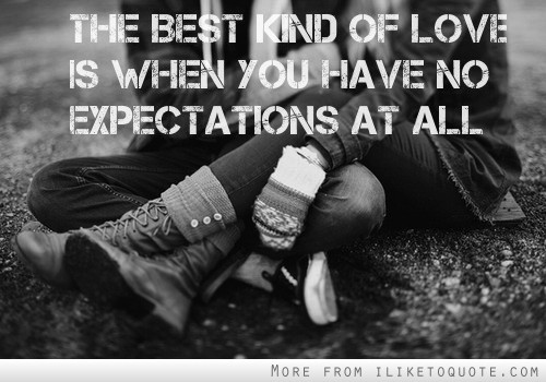 Dating without expectations
