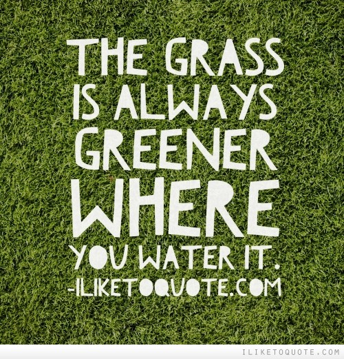 The grass is greener on the