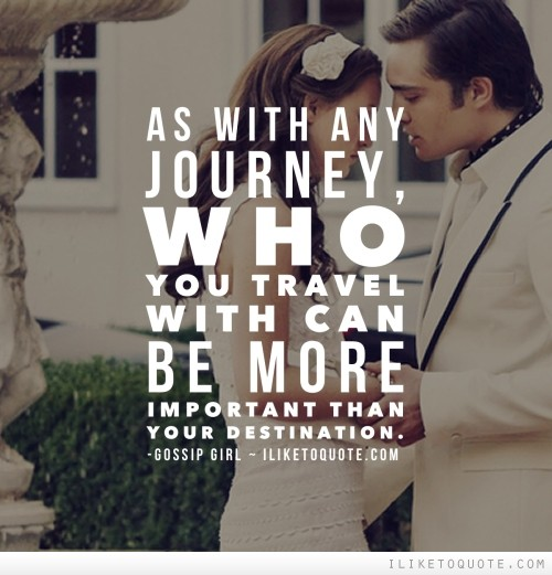 As with any journey, who you travel with can be more important than your destination.