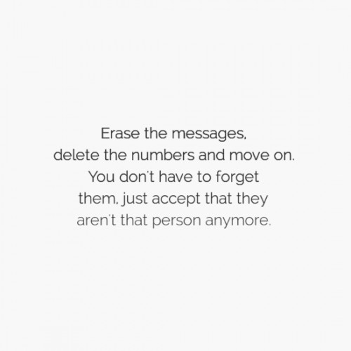Erase the messages, delete the numbers and move on. You don't have to forget them, just accept that they aren't that person anymore.