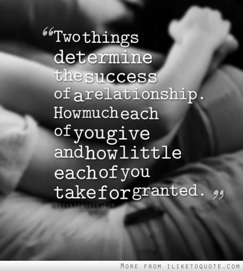 give and take relationship sayings to put