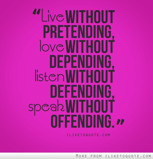 Live without pretending - Drake