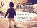 You have to keep moving forward