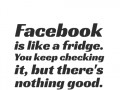 Facebook is like a fridge. You keep checking it, but there's nothing good.