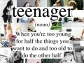 Teenager (noun)