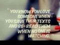 You know you love someone when you save their texts and re-read them when no one is watching.