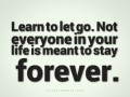 Learn to let go.