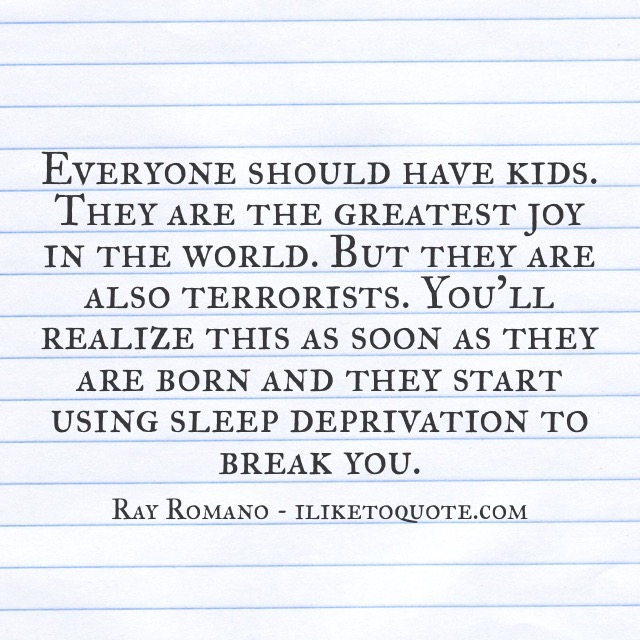 Everyone should have kids. They are the greatest joy in the world. But they are also terrorists.